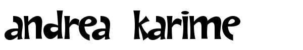 Andrea Karime font preview