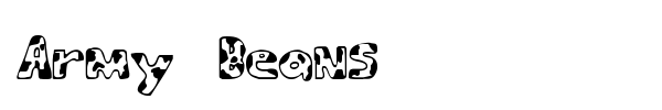 Army Beans font preview