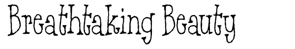 Breathtaking Beauty font