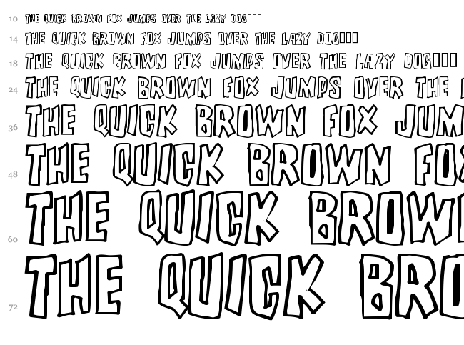 Brutality font waterfall