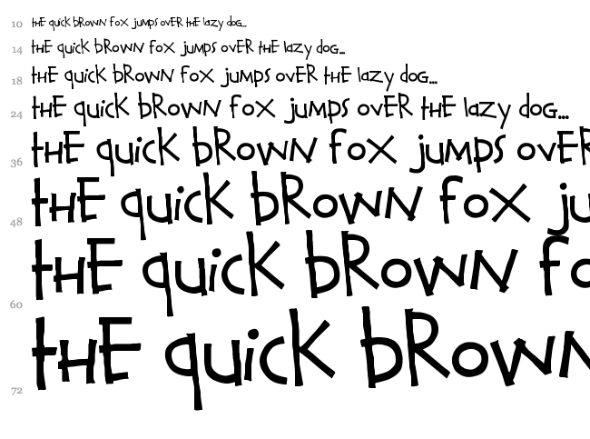 Calvin and Hobbes font waterfall