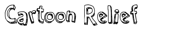 Cartoon Relief font