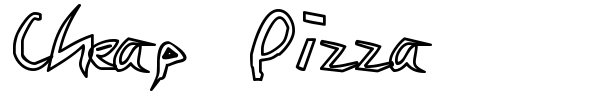 Cheap Pizza font