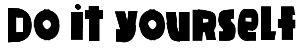 Do it yourself font