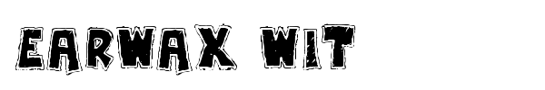 Earwax Wit font preview