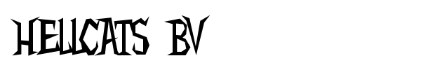 Hellcats BV font preview