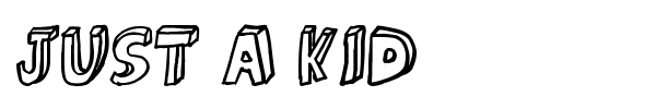 Just a kid font