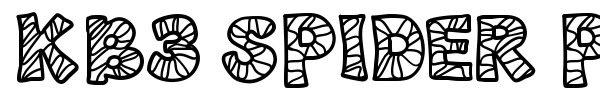 KB3 Spider Patch font