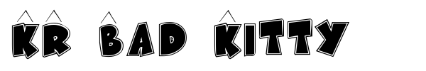 KR Bad Kitty font