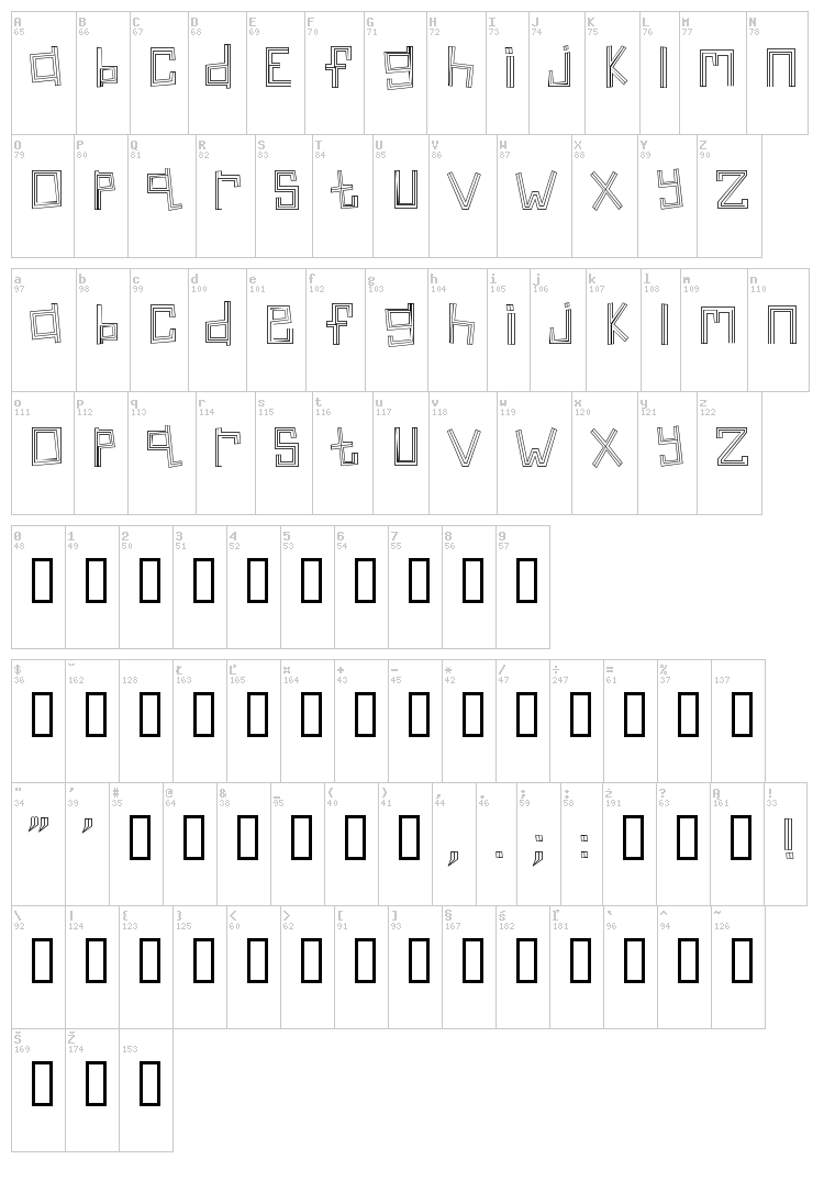 Linear font map