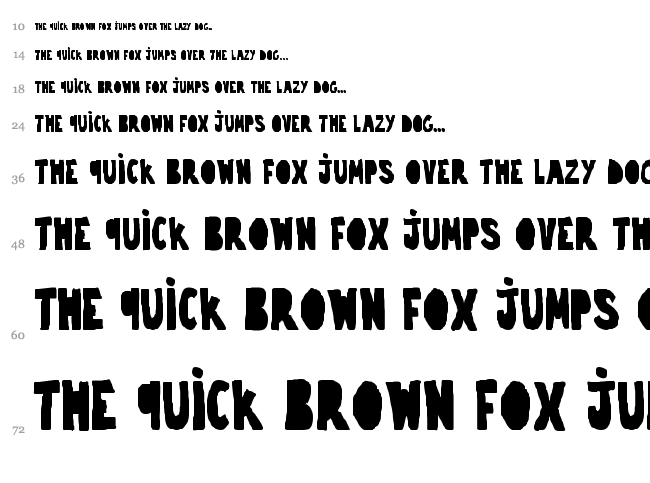 Trouble font waterfall