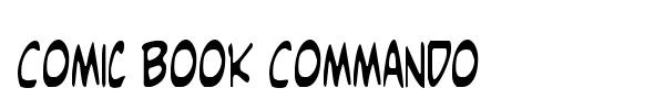 Comic Book Commando font preview