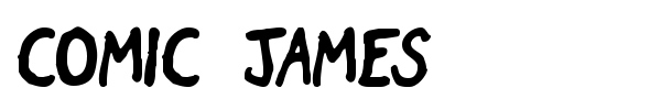 Comic James font