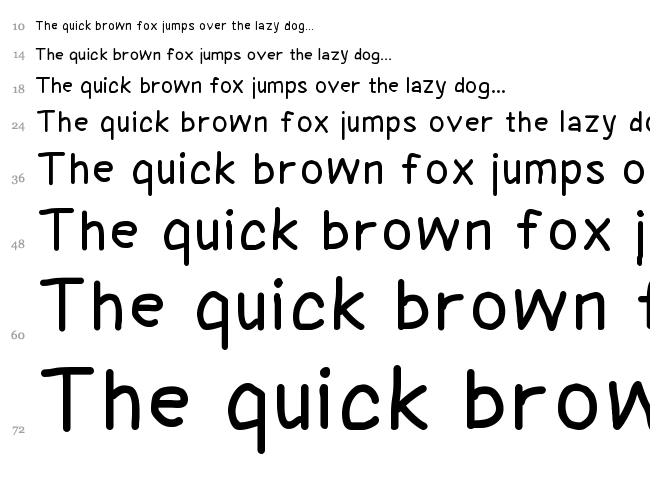 Coyotris Comic font waterfall