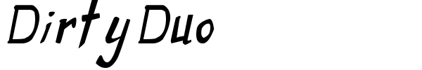 Dirty Duo font