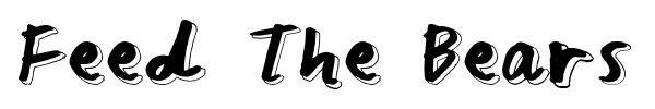 Feed The Bears font