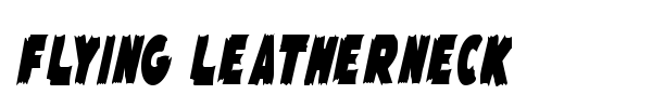 Flying Leatherneck font preview