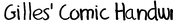 Gilles' Comic Handwriting font