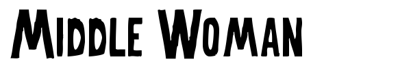 Middle Woman font