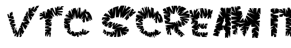 VTC Scream it Loud font