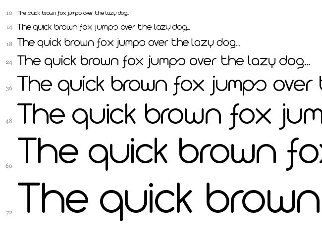 Arista 2.0 font waterfall