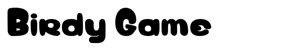 Birdy Game font