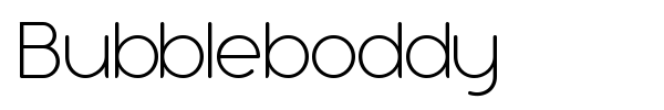 Bubbleboddy font