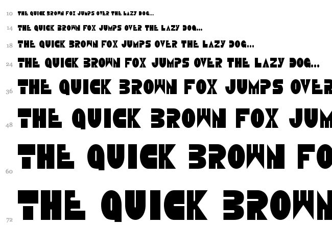 Disco Duck font waterfall