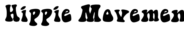 Hippie Movement font