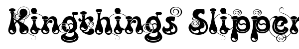 Kingthings Slipperylip font preview