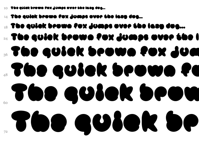 Mister Loopy font waterfall