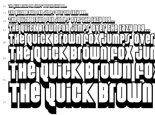 Weltron Special Power / 2001 font waterfall