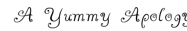 A Yummy Apology font preview