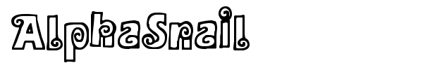 AlphaSnail font preview