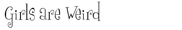 Girls are Weird font