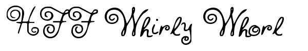 HFF Whirly Whorl font