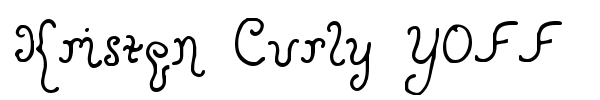 Kristen Curly YOFF font