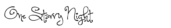 One Starry Night font preview
