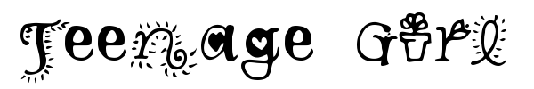 Teenage Girl font