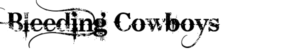 Bleeding Cowboys font preview