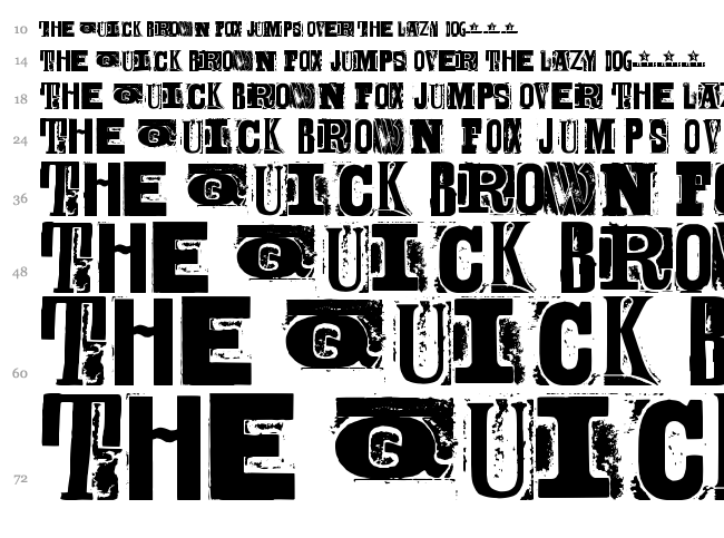Body Hunter font waterfall