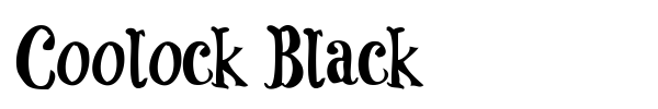 Coolock Black font preview