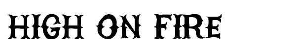 High On Fire font