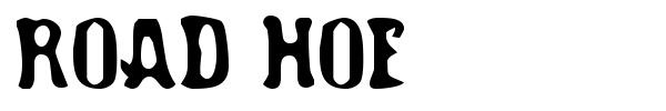 Road Hoe font preview