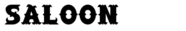 Saloon font preview