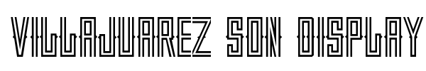 Villajuarez Son Display font