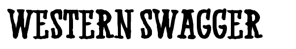 Western Swagger font preview