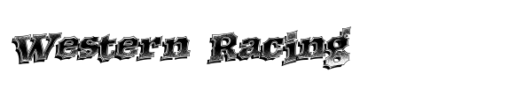 Western Racing font preview