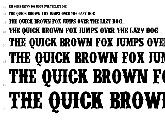 IFC Wild Rodeo font waterfall