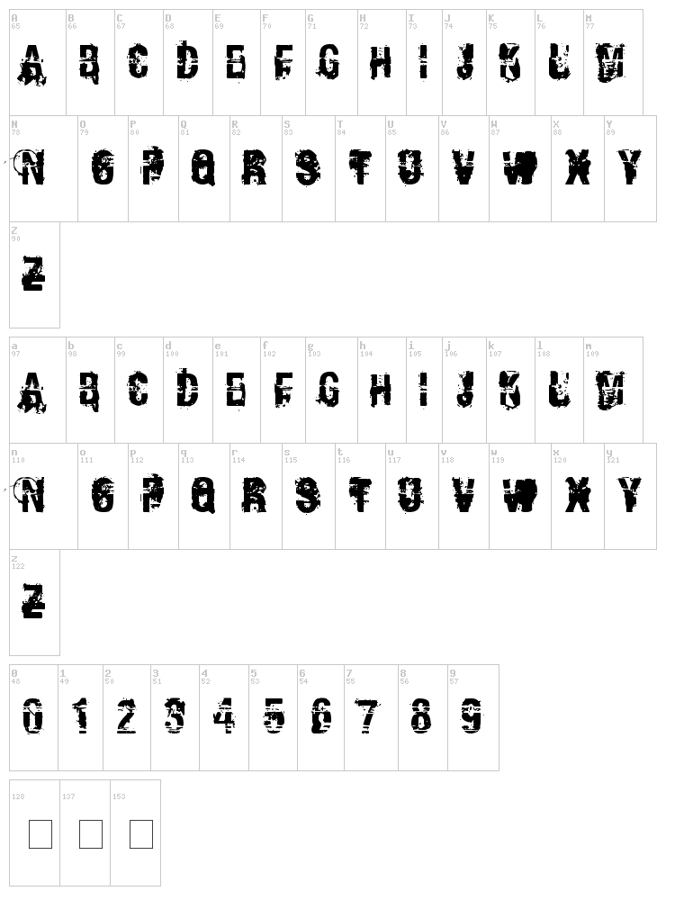 Andy Dufresne font map